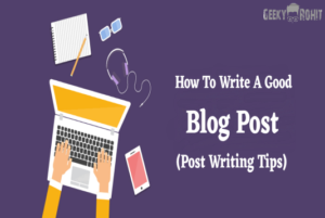 how to write a SEO Friendly Blog Post 2020